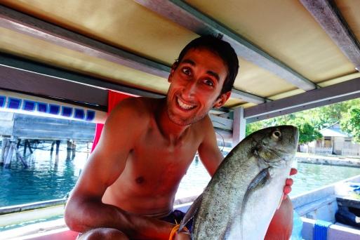 Petit poisson acheté direct aux pêcheurs, on est contents ce soir c'est poisson frais au bbq !